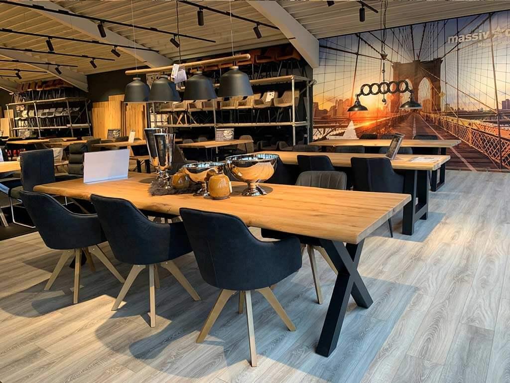 LAGERVERKAUF massiv.direkt - Massive Tische & Stühle direkt vom Hersteller